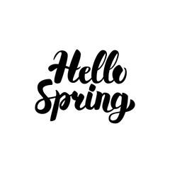 Hello Spring Handwritten Calligraphy