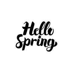 Hello Spring Handwritten Lettering