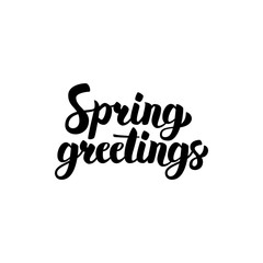 Spring Greetings Handwritten Calligraphy
