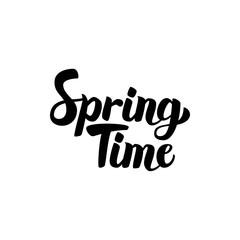Spring Time Handwritten Lettering