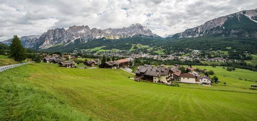 Colle Santa Lucia village, Dolomites mountain