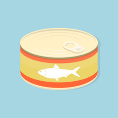 tuna fish canned flat