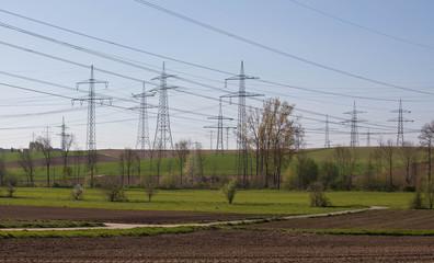 Strom Überlandleitungen - Elektrosmog - Strommasten