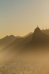 A breathtaking view from the Sugarloaf mountain over to Corcovado