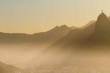 A gorgeus view over Rio de Janeiro towards Corcovado
