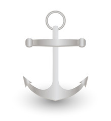 steel metal anchor  on a white background