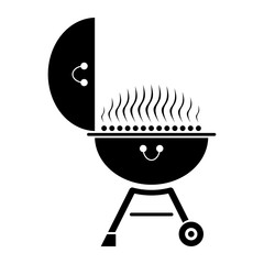 Barbecue grill. icon. food. symbol. grilled. meat. steake