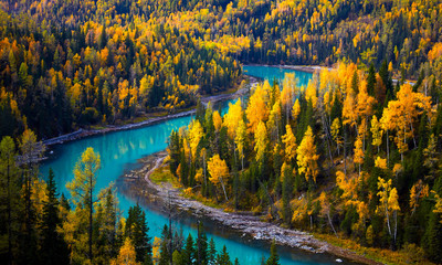 Colorful Moon Bay , scenery in Xinjiang ,China.