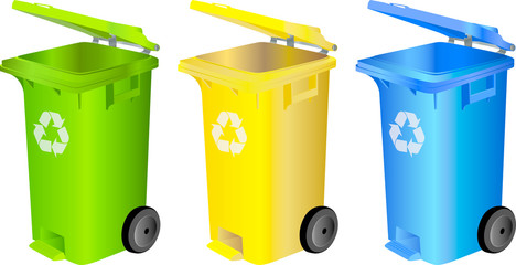 recycling color eco garbage bins