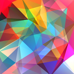 Background made of colorful triangles. Square composition with geometric shapes. Eps 10