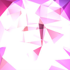 Abstract geometric style background. business background Vector illustration. Pink, white colors.