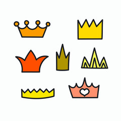 Cartoon hand drawn crown