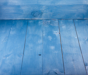Blue background. Wooden blue horizontal boards background. Empty for design