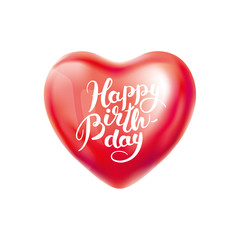 Happy birthday Heart balloon