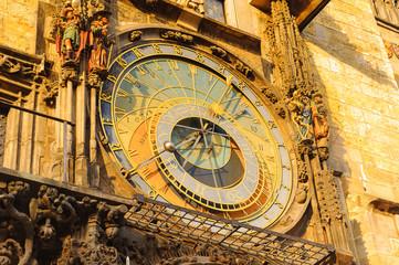 Close view of astonomical clock in Prague, Czech Republic Fototapete