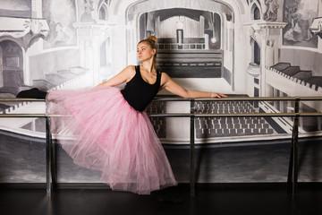Pretty ballerina in the studio