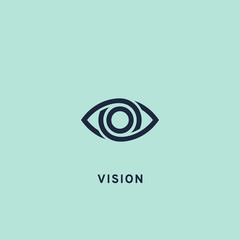 Eye icon, vector illustration