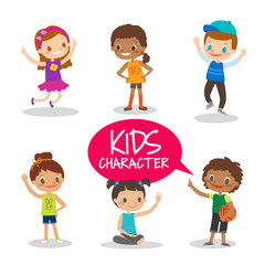 Teen preteen kids cartoon characters
