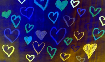 Love abstract unusual illustrations of heart background