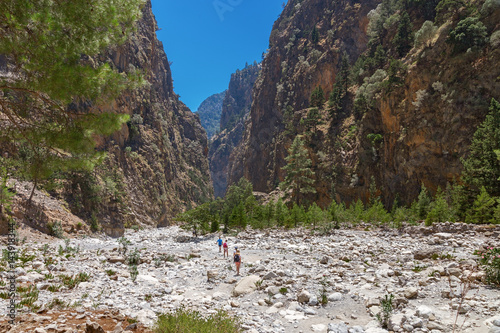The famous Samaria Gorge in the white mountains on the