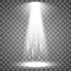 light beam isolated on transparent background. Vector illustration