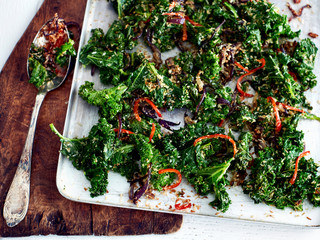 Kale, chilli and coconut side dish