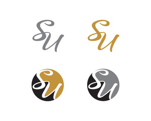Letter S and U Logo Icon 1