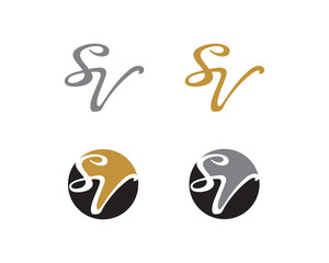 Letter S and V Logo Icon 1
