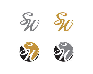 Letter S and W Logo Icon 1