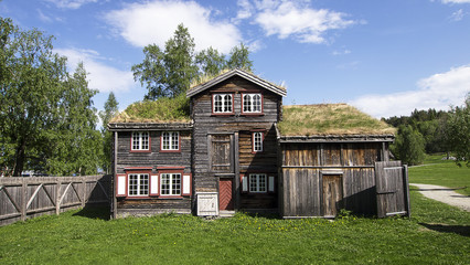 Old House in Trondheim Folk Museum