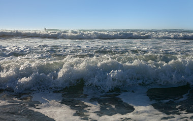 Warm Mediterranean sea.