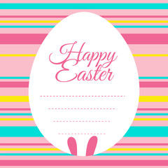 Easter card template with colorful background