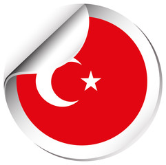 Sticker design for Turkey flag