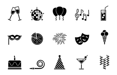 Party Iconset - Schwarz