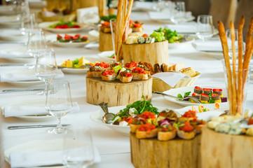 Canapés on the table