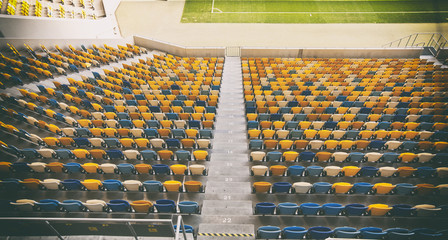 Printed roller blinds Stadion Lots of seats on the stadium
