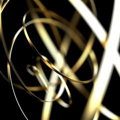 Abstract futuristic golden shape