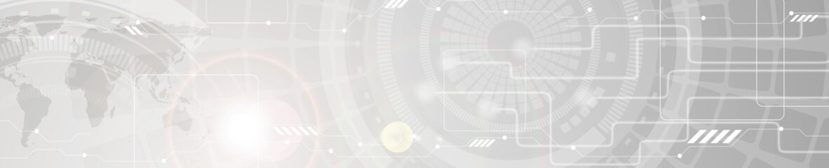 Abstract technology grey web header banner