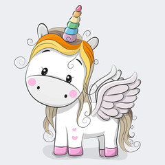 Cute Cartoon Unicorn