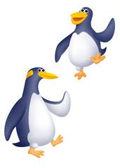 ペンギンキャラクター、ペンギン2匹