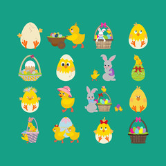 Easter illustrations set