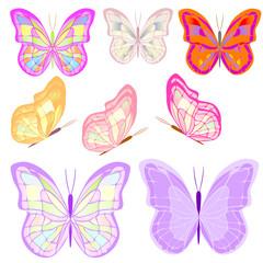 Бабочки, мотыльки цветные