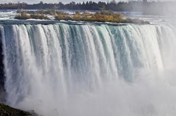 Beautiful photo with amazing powerful Niagara waterfall