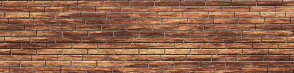 Brick wall, brick background, 3d rendering