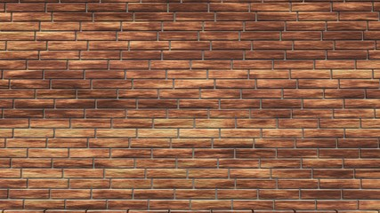 Brick wall, brick background, 3d rendering