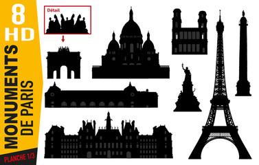 Monuments de Paris - Paris - Célèbre - Tourisme - Tour Eiffel - Montmartre - Hôtel de Ville - Parisien