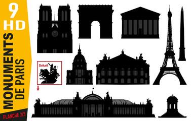 Monuments de Paris - Paris - Célèbre - Tourisme - Tour Eiffel - Notre Dame - Arc de triomphe - Parisien