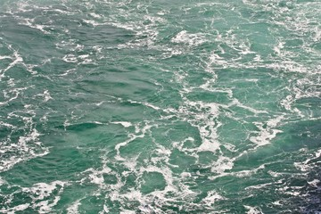 Beautiful isolated photo of the water near amazing Niagara falls