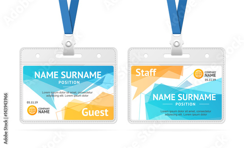 louisiana id template - id card template plastic badge vector fichier vectoriel