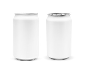blank packaging beverage tin can isolated on white background